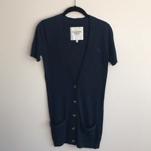 Abercrombie & Fitch navy long cardigan